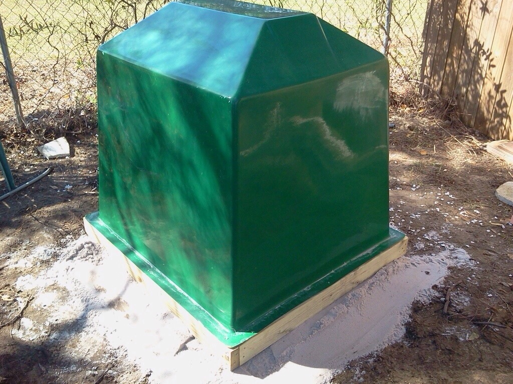 Water well covers for sale anderson well pump south for Fiberglass well house