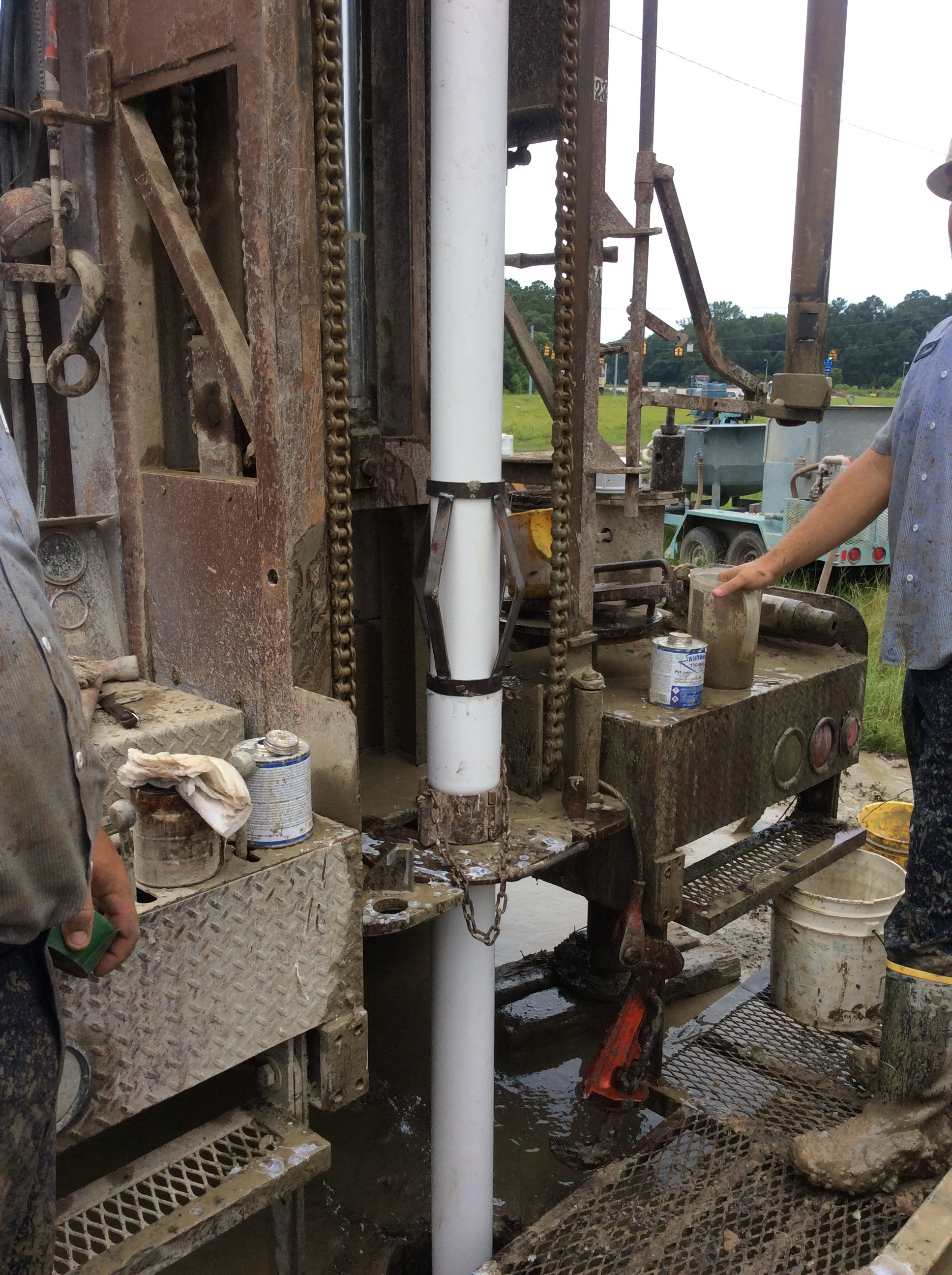 Drilling a commercial well anderson pump south